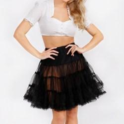Petticoat schwarz 50cm
