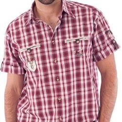 Trachtenhemd kurzarm rot