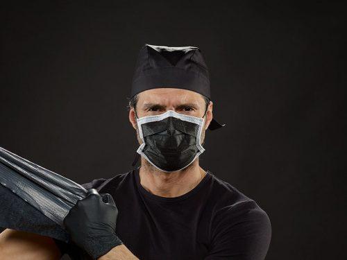 Schutzmaske schwarz