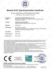 FFP2 Masken CE Zertifiziert