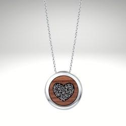 Halskette Holz Herz