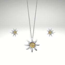 Halskette Ohrring Edelweiss